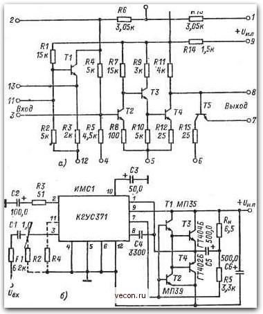 Схемы и микросхемы приборов