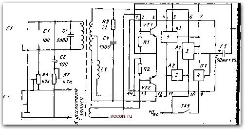 Типовое включение ИМС К157ХП2