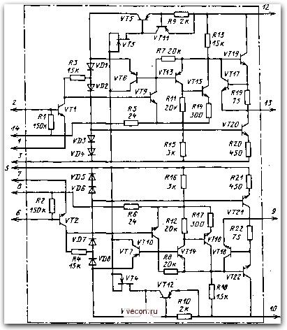 Принципиальная схема ИМС