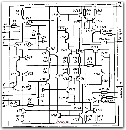 Функциональная схема ИМС